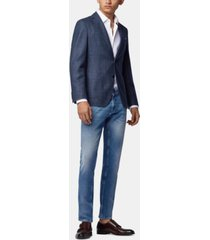 boss men's extra-slim-fit eco-friendly double-stretch jeans