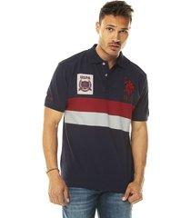 camiseta azul-rojo-blanco  us polo assn