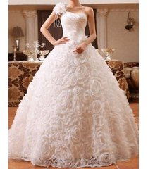 new lace wedding dress bridal gown 3d rose flower bead bow any size custom made