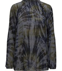 abstract blouse blouse lange mouwen groen rabens sal r