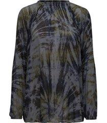 abstract blouse blouse lange mouwen groen rabens sal r