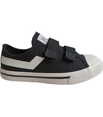 zapatilla negra pony shooter ox canvas