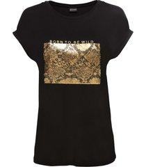 maglia con paillettes reversibili (nero) - bodyflirt