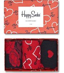 happy socks arrow & heart giftbox 3-pak