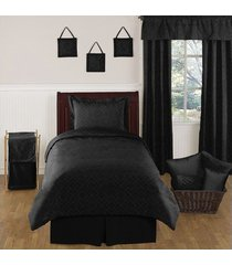 duvet cover sencillo y una funda happy bear - negro a rayas