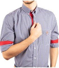 camisa cuadros manga larga ref. 114010220