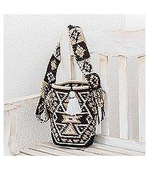 cotton bucket bag, 'harmonious geometry' (guatemala)