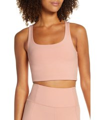 girlfriend collective paloma sports bra, size x-large in misty rose at nordstrom