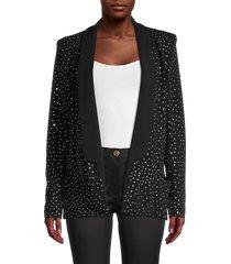 balmain women's embellished open-front blazer - black - size 36 (4)