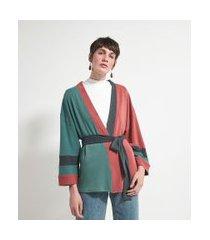 kimono recortes contrastantes comfy   marfinno   multicores   u