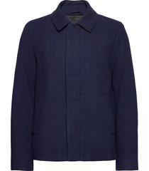 herringb wool jacket wollen jack jack blauw lyle & scott