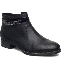 53478-01 shoes boots ankle boots ankle boot - flat svart rieker