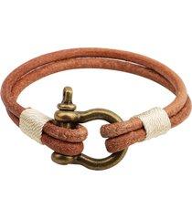 regalo semplice del braccialetto della serratura della lega di cuoio del braccialetto degli uomini