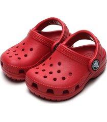 babuche crocs infantil clog k vermelha