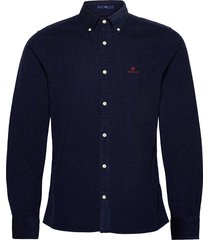 d2. corduroy slim bd overhemd casual blauw gant