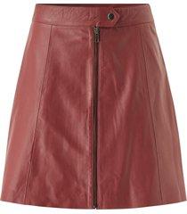 skinnkjol yassanvi hw leather skirt