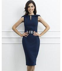 sukienka ołówkowa z tweedowym akcentem