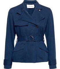 tencel casual jacket ulljacka jacka blå calvin klein