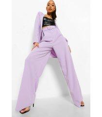 wide leg broek met ceintuur, lilac