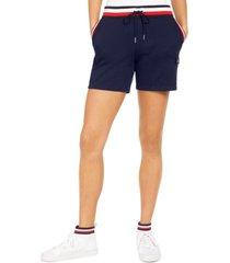 tommy hilfiger contrast-waist drawstring shorts
