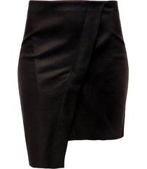 falda corta color siete para mujer - negro