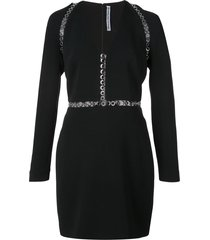 alexander wang fitted eyelets dress - black