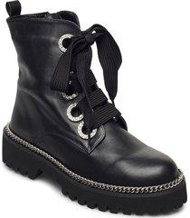 pavvillion shoes boots ankle boots ankle boot - flat svart dune london