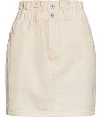 onlmillie life hw mini paper skirt kort kjol creme only