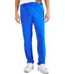 inc men's regular-fit solid track pants, created for macy's