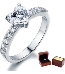 1.5 carat heart cut lab diamond promise ring fine 925 sterling silver