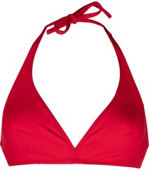 eres gang triangle bikini top - red