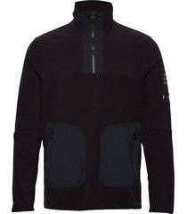 m tech fleece tn sweat-shirt trui zwart peak performance