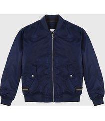 chaqueta azul oscuro calvin klein