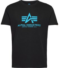 basic t-shirt t-shirts short-sleeved blå alpha industries
