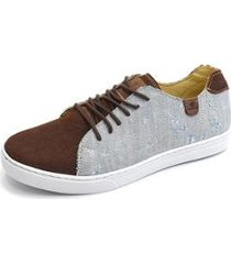 sapatênis metropole jeans destroyed e couro shoes grand masculino - masculino