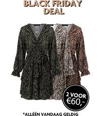 exclusive deal jurken met zebraprint