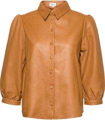 embersz shirt overhemd met lange mouwen bruin saint tropez