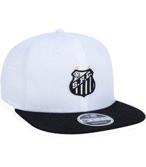 bonã©  new era aba reta 950 original santos futebol - branco - branco - dafiti