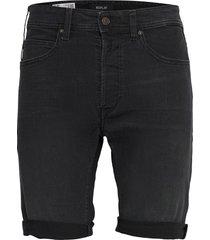 t-shirt jeans shorts denim shorts zwart replay