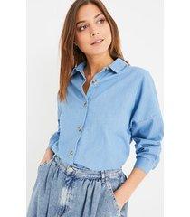 jeansowa koszula oversize