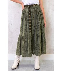 maxi embroidery rok army