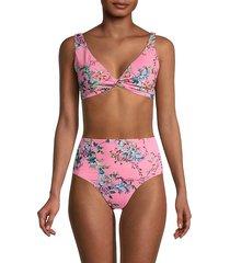 malakye floral twist bikini top