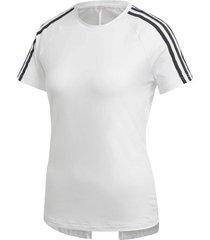 camiseta adidas design 2 move 3 rayas mujer