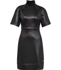 g-star glossy high collar sweat dress wmn ss