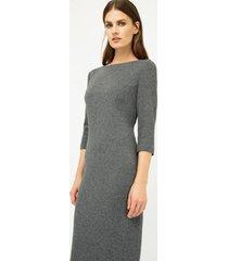 sukienka dopasowana szara