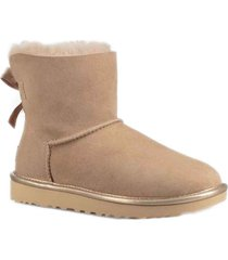 ugg stivali mini bailey bow ii metallic