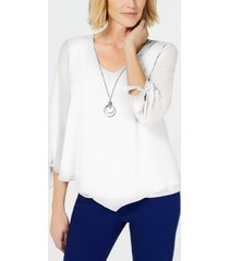 jm collection asymmetrical necklace blouse, created for macy's