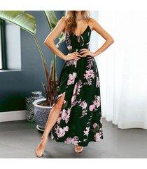 vestido de playa sin espalda de verano vestidos casual para dama - negro
