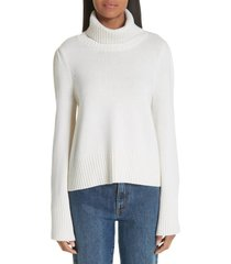 women's co essentials flare sleeve wool & cashmere turtleneck sweater
