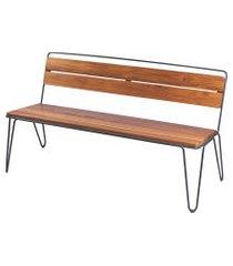 banco de madeira tramontina 14524051 tarsila teca marrom